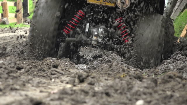 Driving ATV Through Mud video
