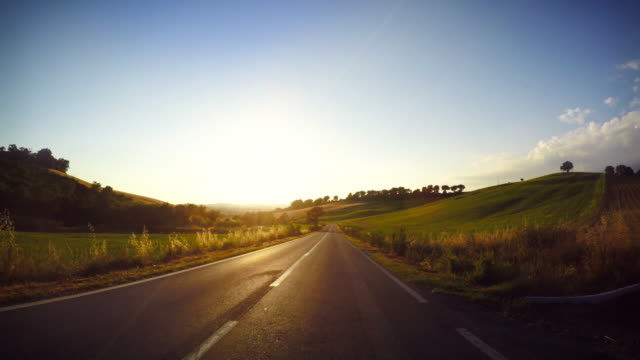 driving car point of view at sunset - dusk stock videos & royalty-free footage
