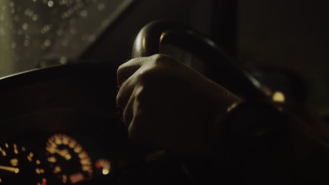 Driving car scene, human hand controlling steering wheel Driving car scene, human hand controlling steering wheel luxury car stock videos & royalty-free footage