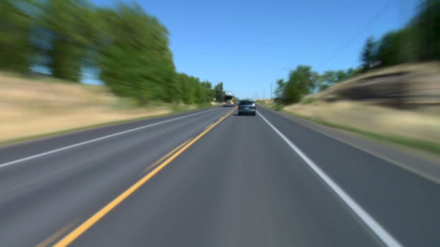 Driving Central Oregon Small Town  country road stock videos & royalty-free footage