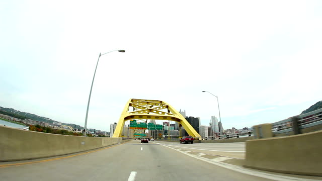 Driving Downtown Pittsburgh video