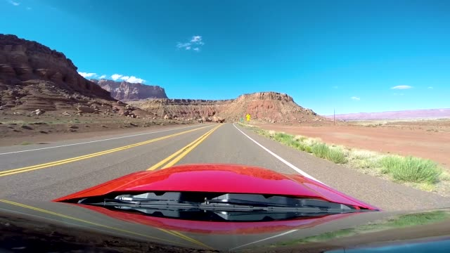 Driving POV of Highway 89 in 4K. Highway from Page to Grand Canyon National Park Arizona USA video