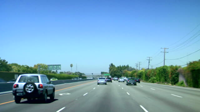 driving highway - road signs stock videos and b-roll footage