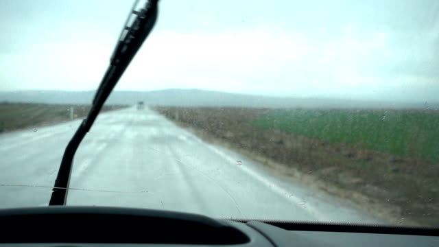Driving in a rain video