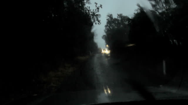 Driving in bad weather video