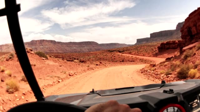 driving in moab with an atv car
