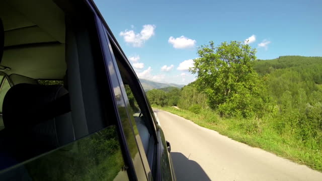 Driving in nature video