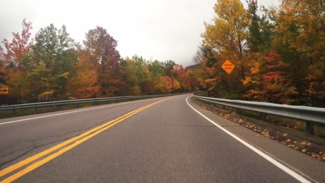 driving in new england for the autumn season driving in new england for the autumn season country road stock videos & royalty-free footage