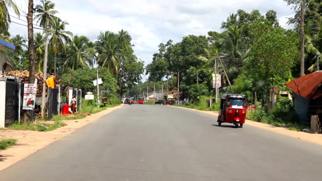 Driving in Sri Lanka rural areas video
