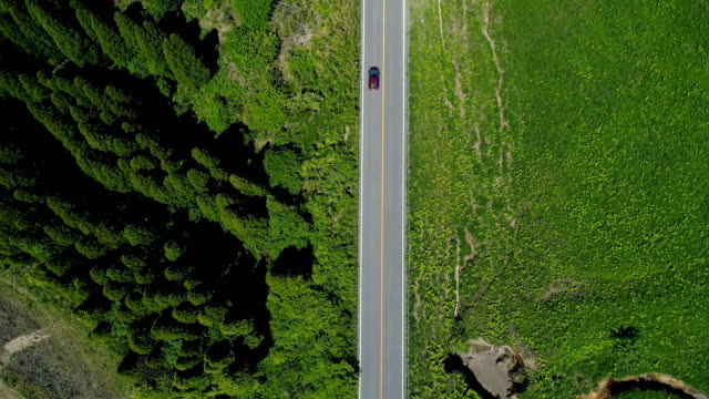 driving in the nature - aerial road stock videos & royalty-free footage