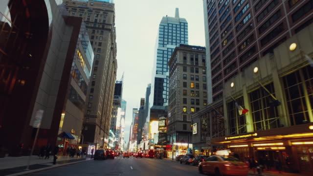 「POV 」のお車で、タイムズスクエア、ニューヨーク市 ビデオ