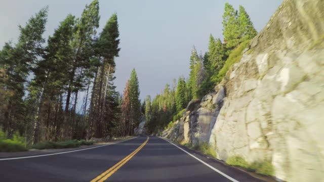 POV fahren im Yosemite National Park, der Tioga pass – Video