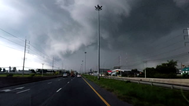 Driving Into Typhoon Storm video