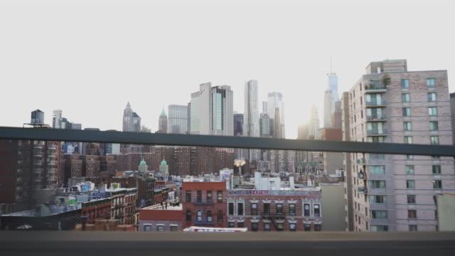 Driving Manhattan Bridge.