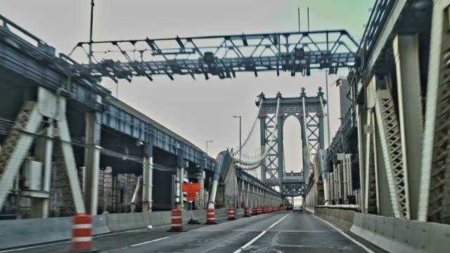 Driving Manhattan Bridge. - vídeo