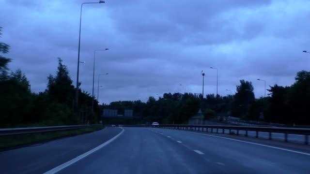 Driving motorway, air plane landing