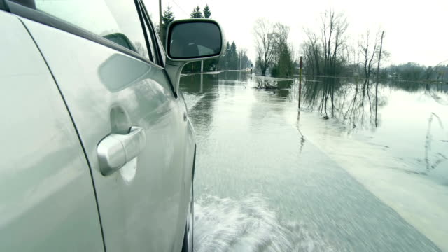 Driving On A Flooded Country Road video
