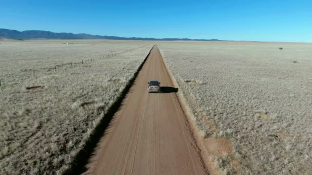 Driving on a Lonely desert road video