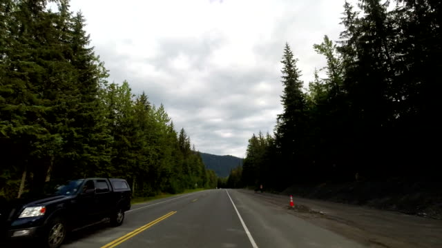 Driving on a Mountain Highway in Alaska video