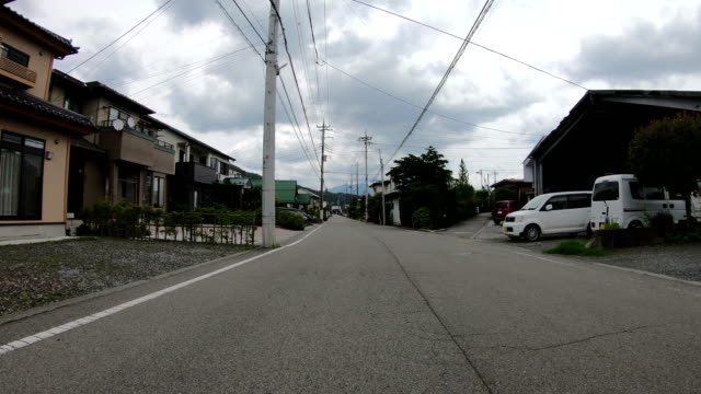 4K POV driving on a road through a Japanese village at Fujikawaguchiko, Japan video