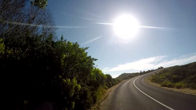 Driving on Australian coast POV video
