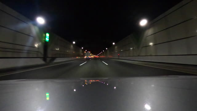 Driving on highway at night | bonnet