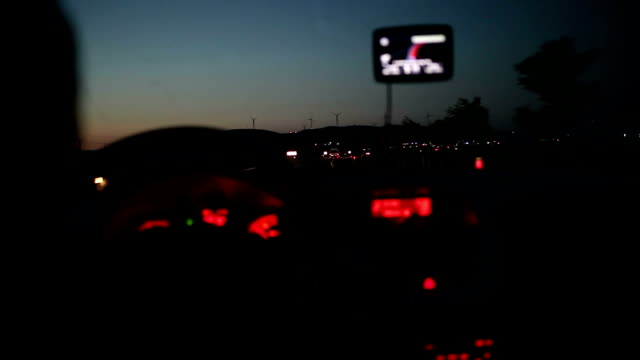 Driving on highway at night video
