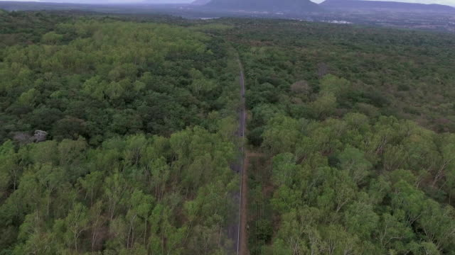 driving on hill route aerial shot - lungo video stock e b–roll