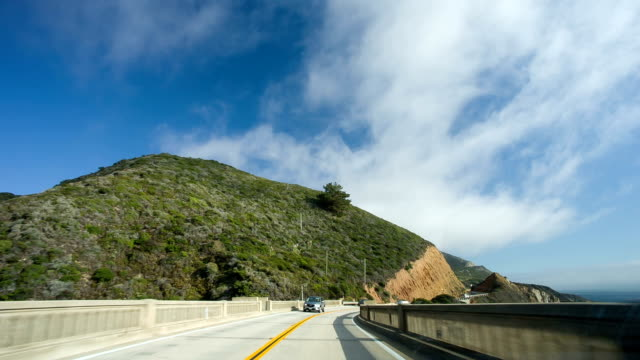 Driving on Hwy 101 Big Sur California video