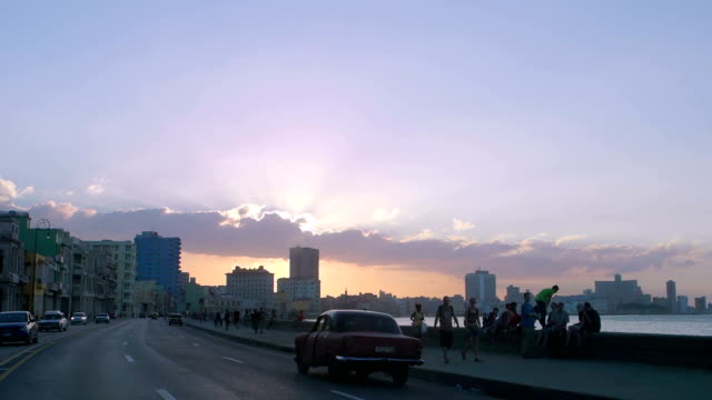 Driving On Malecon, Havana, Cuba video