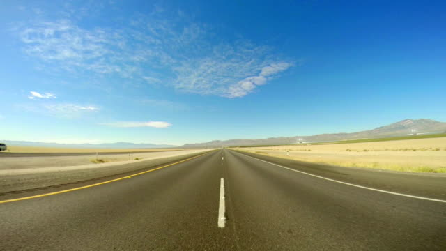 WS POV Driving On Mojave Freeway video