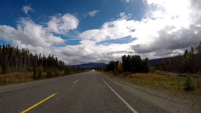 POV driving on scenic road video