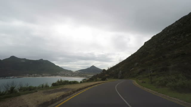 Driving on the Chapman's Peak Drive, Cape Town, South Africa video