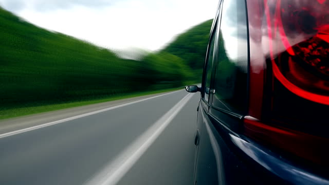 Driving on the highway in the mountains. video