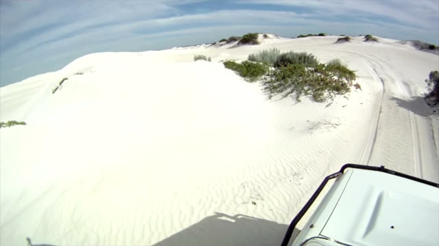 HD: Driving Over Sand Dunes video