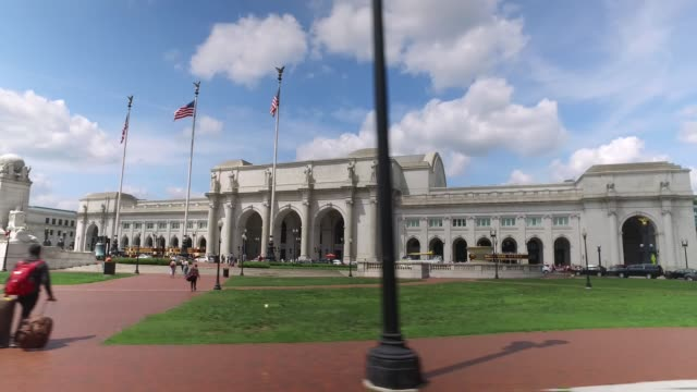 Driving Past Union Station in Washington DC video