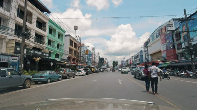 FahrprozessPlatte Frontansicht Maharaj Road, Krabi Stadt, Thailand – Video