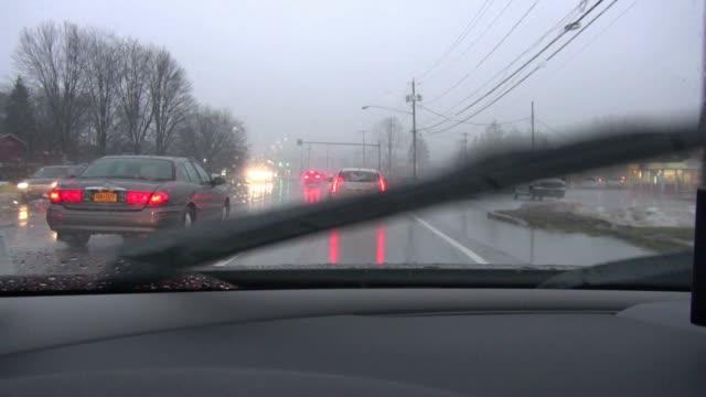guida, pioggia, pioggia, tempesta di - molla video stock e b–roll