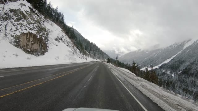 Driving Stevens Pass Highway 2 Avalanche Aerial video