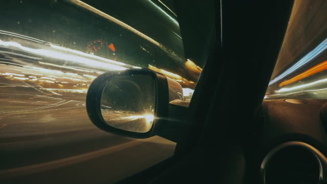 driving the car by night - timelapse video - business travel stock videos and b-roll footage