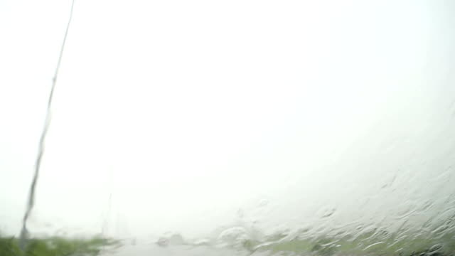 Driving the Car on Highway During Rainy Season video