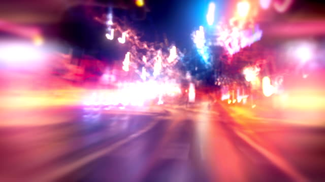 Driving through a city timelapse video