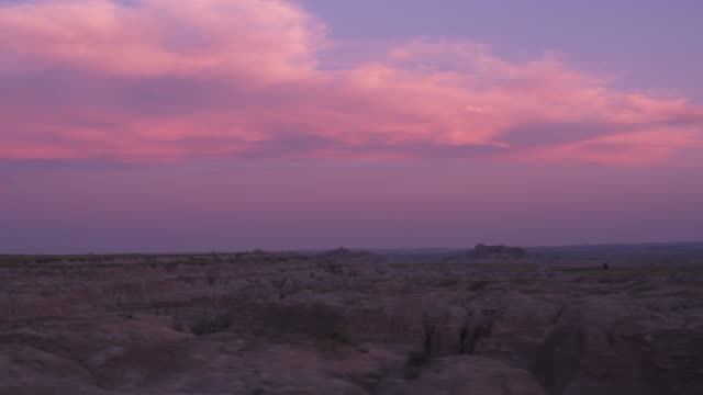 Driving through Badlands National Park at sunset, South Dakota video