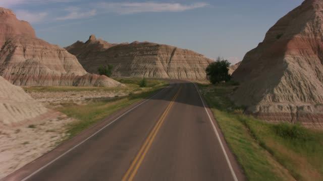 Driving through Badlands National Park, South Dakota video