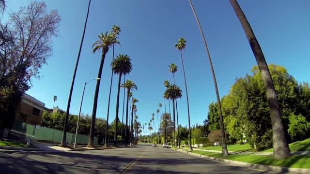 vídeos de stock e filmes b-roll de condução através de beverly conduzir em beverly hills - mansão imponente