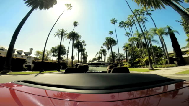 WS POV Driving Through Beverly Hills Neighbourhood video
