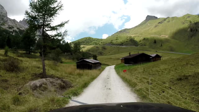 Driving through Fedaia Mountain Pass. Dolomites, Italy video