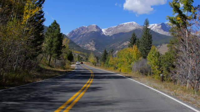 Driving through Rocky Mountain Range, Colorado video