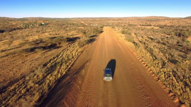 Driving through the arid Namibian landscape video