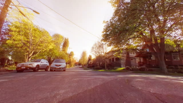 Driving Through The Neighborhood - Time Lapse video